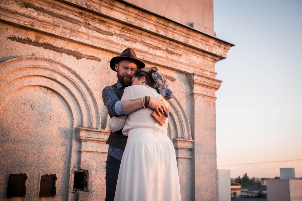 ślub humanistyczny przysięga na dachu